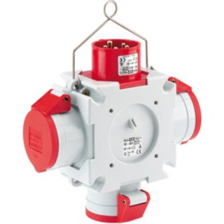 HCKV16 Kreuzverteiler IP44, 3x 16A, 400V 5p