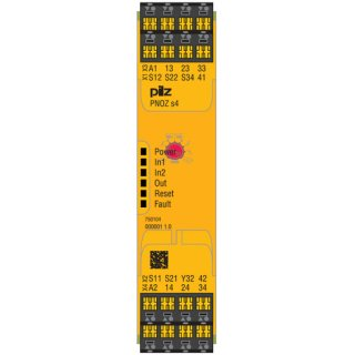 Pilz 750104 PNOZ s4 24VDC 3 n/o 1 n/c