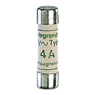 Legrand 12304 Sicherung 8,5 x 31,5 mm 4A Typ gG