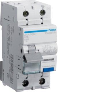 Hager ACA566D FI-LS 1P+N 10kA C-16A 10mA Typ A