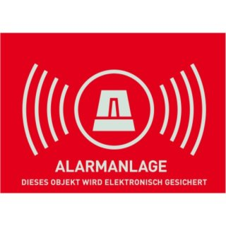 ABUS AU1322 Warnaufkleber Alarm (ohne ABUS-Logo) 148 x...