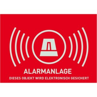 ABUS AU1323 Warnaufkleber Alarm (ohne ABUS-Logo) 74 x...