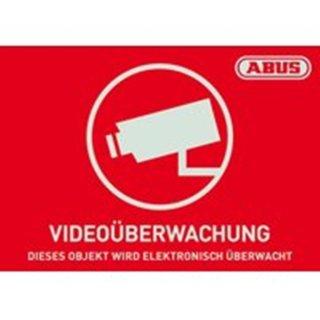 ABUS AU1420 Warnaufkleber Videoüberwachung mit ABUS...