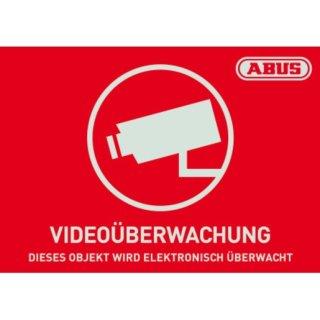 ABUS AU1421 Warnaufkleber Videoüberwachung mit ABUS...