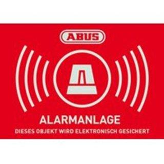 ABUS AU1422 Warnaufkleber Alarm mit ABUS Logo 148 x 105...