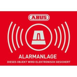 ABUS AU1423 Warnaufkleber Alarm mit ABUS Logo 74 x 52,5...