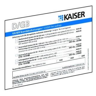 Kaiser 9473-92 Brandschutz Schott-Kennzeichnungsschild,...