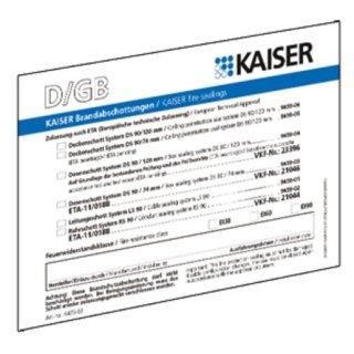 Kaiser 9473-91 Brandschutz Schott-Kennzeichnungsschild,...