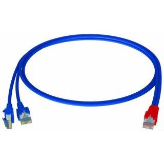 homeway HCAHNG-B2103-A010 Y-Patchkabel LAN/LAN bl/bl 1,0m