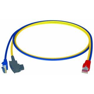 homeway HCAHNG-B2404-A010 Y-Patchkabel LAN/TAE bl/ge 1,0m