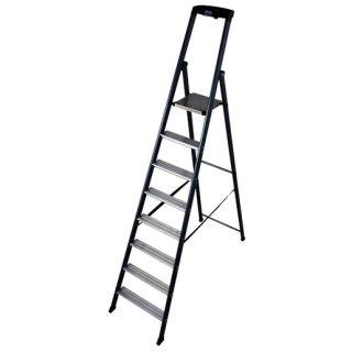 Krause 124227 MONTO Stufen-Stehleiter SePro S eloxiert 8...