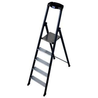 Krause 124197 MONTO Stufen-Stehleiter SePro S eloxiert 5...