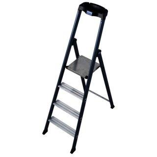 Krause 124180 MONTO Stufen-Stehleiter SePro S eloxiert 4...