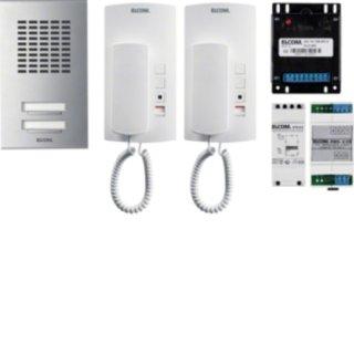 Elcom 1000929 AZA-2EM AudioSet 2TLN AP 1+n Edelst.ESTA