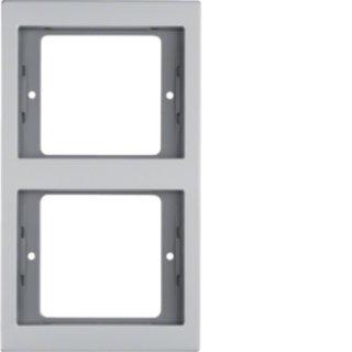 Berker 13237003 Rahmen 2fach senk K.5 Alu