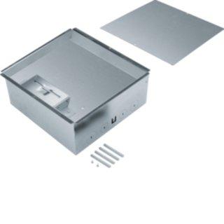 Hager UDKPQ06E Bodendosen-Set mit Edelstahlkassette Q06