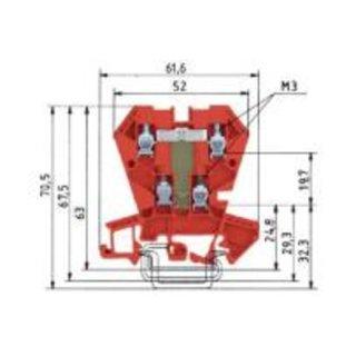 Wieland WK  4 E / U  G2/V0 Etagenklemme-WK  4 E / U  G2/V0