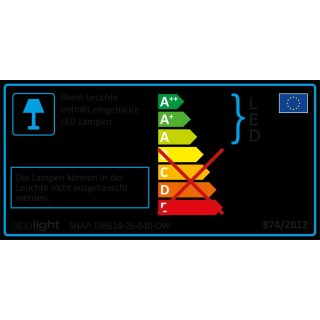 ABALIGHT SNAP-198618-26-840-O SNAP-198618-26-840-OW LED...