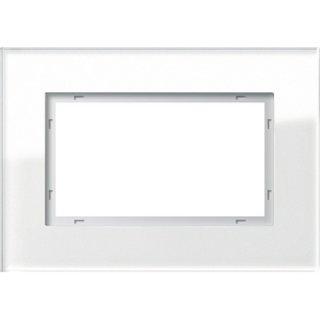 GIRA 100112 Abdeckrahmen 1,5f Gira Esprit G Weiß