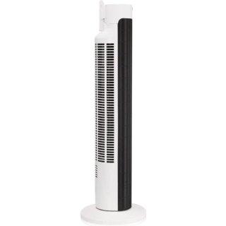 Domo DO8126 Haushalts Turmventilator Schwarz, Edelstahl