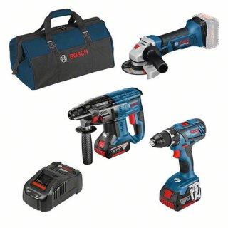 Bosch Professional 0615990M0W Combo Kit 3-tlg. 18V: GSR +...