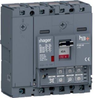Hager HMS041JC Leistungsschalter h3+P160 LSI 4x40A 50kA