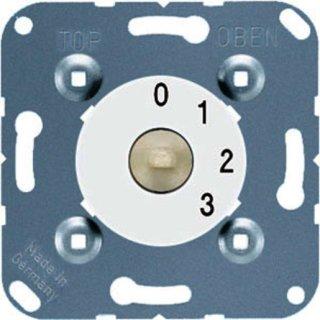 Jung 1101-4 WW Drehschalter, 3-Stufenschalter m....