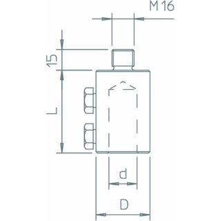 OBO Bettermann 101 A-16 Anschlussstück für 16mm...