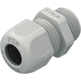 HKVM1201 Kabelverschraubung 12mm vollmetrisch ,lichtgrau,...