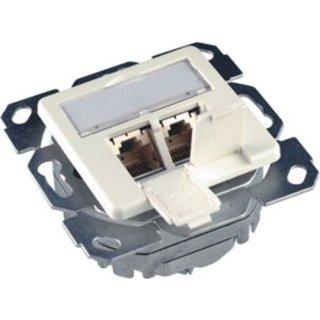 HSC502PW Daten Anschlussdose 8/8 Up/50 Cat. 5e perlweiss