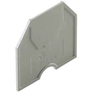HAP 2,5-4 Abschlussplatte, grau, für HK 2,5 U/HK 4 U
