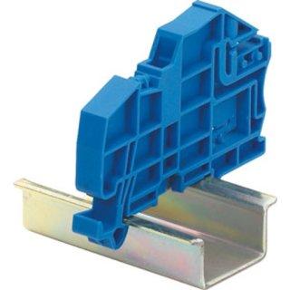 HKIF SH E 35 N-Schienenhalter als Endklammer schraublos blau