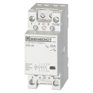 H 25 40 230 Installationsschütz 25A AC1, 4...